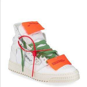 Off-White Off Court High-Top Leather Sneakers